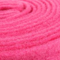 Wstążka filcowa różowa 7,5cm 5m