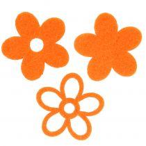 Kwiatek filcowy 4cm Pomarańczowy 72szt