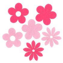 Filc kwiatowy różowy, różowy 3,5cm 96szt