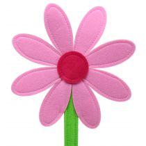 Kwiatek filcowy różowy 87cm