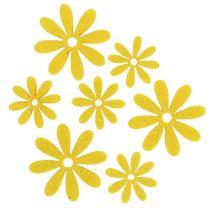 Filcowe kwiatki w kolorze żółtym 96szt