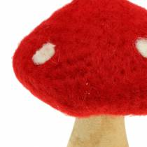 Muchomor dekoracja jesienna czerwona H13,5cm 2szt.