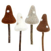 Filcowe grzybki muchomorki brązowe różne. 30cm 4szt.