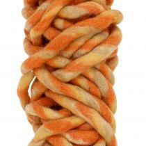 Sznurek filcowy 25m pomarańczowy, żółty, brązowy