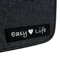 "Filcowa torba ""Easy Life"" 39 cm x 22 cm x 25,5 cm szara"