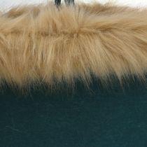 Torebka filcowa z futerkiem zielona 38cm x 24cm x 20cm