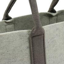 Torba filcowa szara / brązowa 54cm x 34cm x 15cm