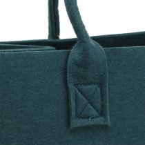 Torba filcowa niebiesko-szara 40cm x 20cm x 25cm