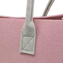 Torebka filcowa różowa 50cm x 25cm x 25cm
