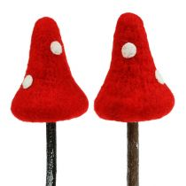 Korek muchomor z filcu czerwony 30cm 4szt.