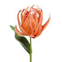 Kwiatek piankowy pomarańczowy 12cm L30cm 1szt.