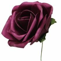Róża piankowa Ø10cm różne kolory 8szt.