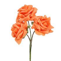 Róża piankowa Ø7,5cm Pomarańczowa 18szt