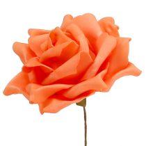 Róże piankowe pomarańczowe Ø15cm 4szt.