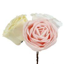 Foamrose Mix Ø10cm różowy, kremowy, biały 6szt