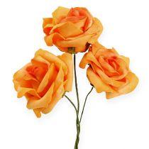 Róża piankowa Ø7,5cm Ciemnożółta 18szt.