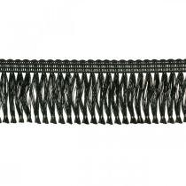 Fringe Ribbon, Cordonet Braid, Leonese Fringe Black W4cm L25m