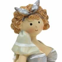 Figurka dekoracyjna Pani w kostiumie kąpielowym szara 10cm 2szt.