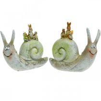Przyjazny ślimak dekoracyjny z towarzyszami, wiosna, dekoracja stołu, ślimak domowy 2szt.