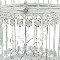 Dekoracja wiosenna, klatka dla ptaków do zawieszenia, dekoracja metalowa, vintage, dekoracja ślubna 28,5cm