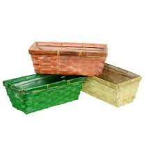Koszyczek wiosenny 25x13x9cm Pomarańczowy, Żółty, Zielony 6szt.