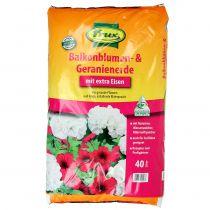 FRUX do kwiatów balkonowych i pelargonii 40l