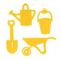 Narzędzia ogrodowe filc żółty 24szt