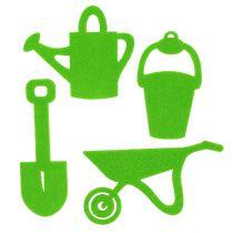 Narzędzia ogrodowe filc zielony 24szt