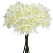 Bukiet hortensji sztuczne kwiaty białe L27cm