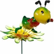 Wtyczka ogrodowa Świerszcz na kwiatku kolorowa 11cm