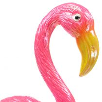 Korek ogrodowy flamingo różowy 15cm