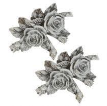 Róża do dekoracji grobu polyresin 10cm x 8cm 6szt