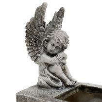 Doniczka z Aniołem Grey 17cm