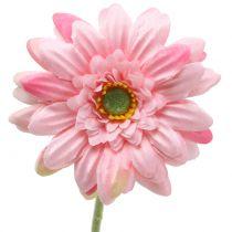 Gerbera różowa sztuczna 47cm 12szt.