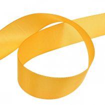 Wstążka prezent wstążka dekoracja wstążka pomarańczowy jedwab wstążka 40mm 50m
