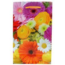 Torebka prezentowa z kwiatami 12cm x19cm 1szt.