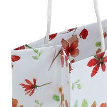 Torebki prezentowe z kwiatami 25cm x 20cm x 11cm 6szt.