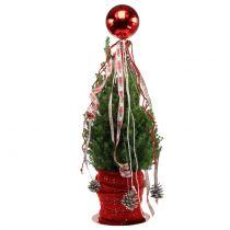 Piłka Świąteczna Plastikowa Mała Ø14cm Czerwona 1szt.