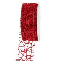 Taśma kratowa czerwona 40mm 10m