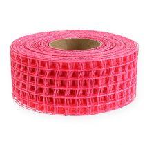 Taśma kratowa 4,5cm x 10m różowa