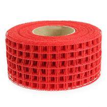 Taśma kratowa 4,5cm x 10m czerwona