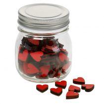Serca czerwone w szklance 9 cm
