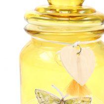 Słoik szklany Bonbonnière Żółty Ø11cm H15,5cm