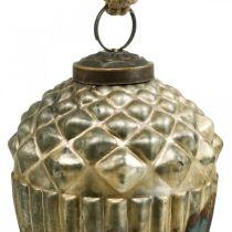 Żołądź do powieszenia, jesienne owoce, ozdoby choinkowe prawdziwe szkło, antyczny wygląd Ø7,5cm H10,5cm 2szt.