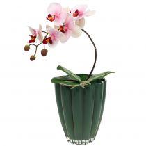 """Wazon szklany """"Bloom"""" ciemnozielony Ø14cm H17cm"""