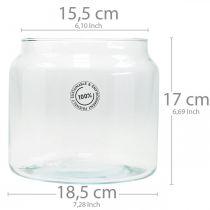 Szklany lampion, wazon dekoracyjny, dekoracja na świecę Ø18,5cm H21cm