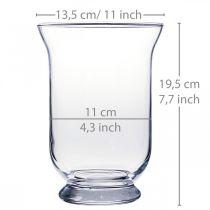 Wazon szklany przezroczysty Ø13,5cm H19,5cm Dekoracja szklana wazon na kwiaty
