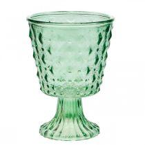 Lampion szklany Ø11,5cmH15,5cm turkusowy