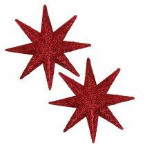Gwiazda brokatowa czerwona Ø10cm 12szt.