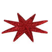 Gwiazda brokatowa czerwona Ø5cm 20szt.